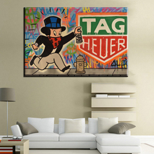 CM113 2017 Alec monopoly TAG HEUER art print canvas for wall art decoration oil painting wall painting picture No frame(China)