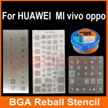 3 PCS/Lot Multifunction IC Chip BGA Reballing Heat Rework Station Stencil Solder Paste template for Samsung iPhone HUAWEI etc(China)