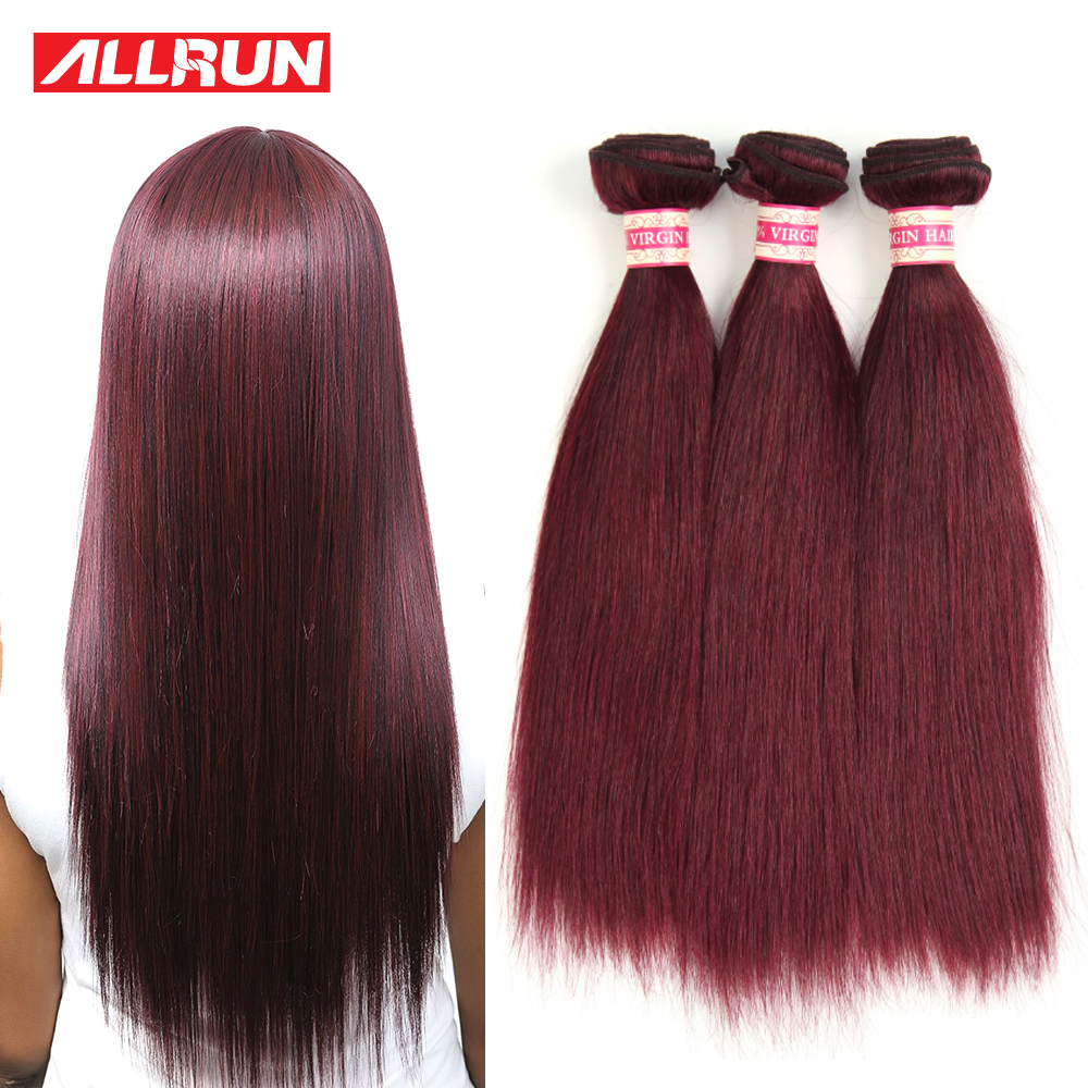99j# Color Brazilian Hair 4 Bundles Brazilian Straight Burgundy 99j Brazilian Virgin Hair Straight Hair Extensions Human Hair<br><br>Aliexpress