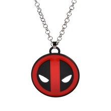 Buy Superhero Style Deadpool Necklace Mask Red Black Enamel Pendant Fashion Movie Marvel Men Chain Statement Necklaces for $1.34 in AliExpress store