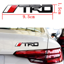 car-styling Metal Chrome TRD Emblem 3D Car Sticker For ford opel renault TRD Style car-covers Sport Stickers For bmw ford vw kia(China)