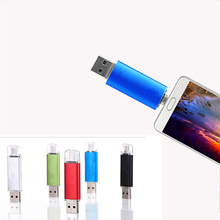 Pendrive 128GB OTG external Smart Phone 2 in 1 for PC USB Flash Drive Metal Disk Classic 64/32/16/8/4GB key robot stick pendrive(China)