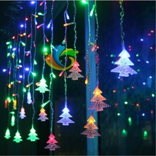 Connectable 4M/5M led curtain chrismas tree icicle string lights led Christmas lamps Icicle Lights Xmas Wedding Party Decoration