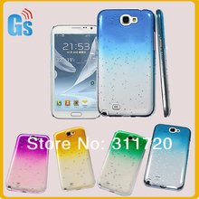 3D Water drop Ultra Thin Slim Hard Snap-on cover For Samsung Galaxy Note 2 N7100  waterproof  cases