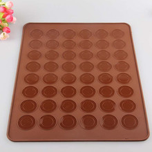 MJ014 Pastry Tools Large Size 48 Holes Macaron Silicone Baking Mat Cake , Christmas Bakeware, Muffin Mold/decorating Tips Tools(China)