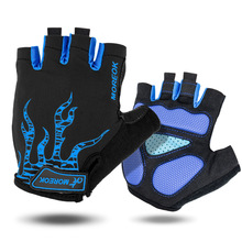 MOREOK Half Finger Cycling Gloves Mens Women's Summer Sports Bike Gloves Nylon Mountain Bicycle Gloves Guantes Ciclismo(China)