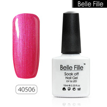 BELLE FELLE 10ml Color UV Gel Nail Polish clear coat salon nail gel polish DIY nail art Fashion Semi Permanent fingernail polish(China)
