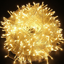Outdoor indooer String Lights 328ft 100m 600LED Lights for Home, Patio, Party, Festival, Christmas Tree, Decorations garden(China)