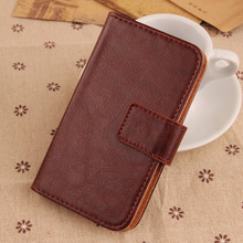 LINGWUZHE Retro Magnetic Buckle+Card holder design Cell Phone bag Flip PU Leather cover Wallet Case For Kata F1s 4.5''