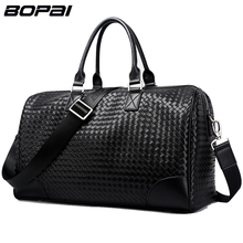 BOPAI Brand Men Travel Bags Large Capacity Handbags Travel Bag Unisex Waterproof Microfiber Synthetic Leather Luggage Carry On