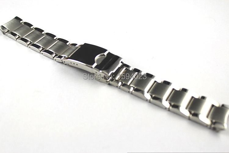 19mm T095417A Watchband Watch Parts male strip Solid Stainless steel bracelet Folding Buckle strap For T095 Free shipping<br>