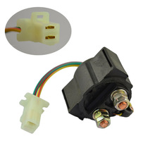 Street ATV Motorcycle Electrical Parts Starter Solenoid Relay Ignition Key Switch For Yamaha BIG BEAR 350 YFM350 1987-1999