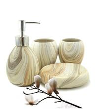 Simple ceramic bathroom set bathroom supplies ceramic four-piece latex bottles / soap dish bathroom accessories(China)