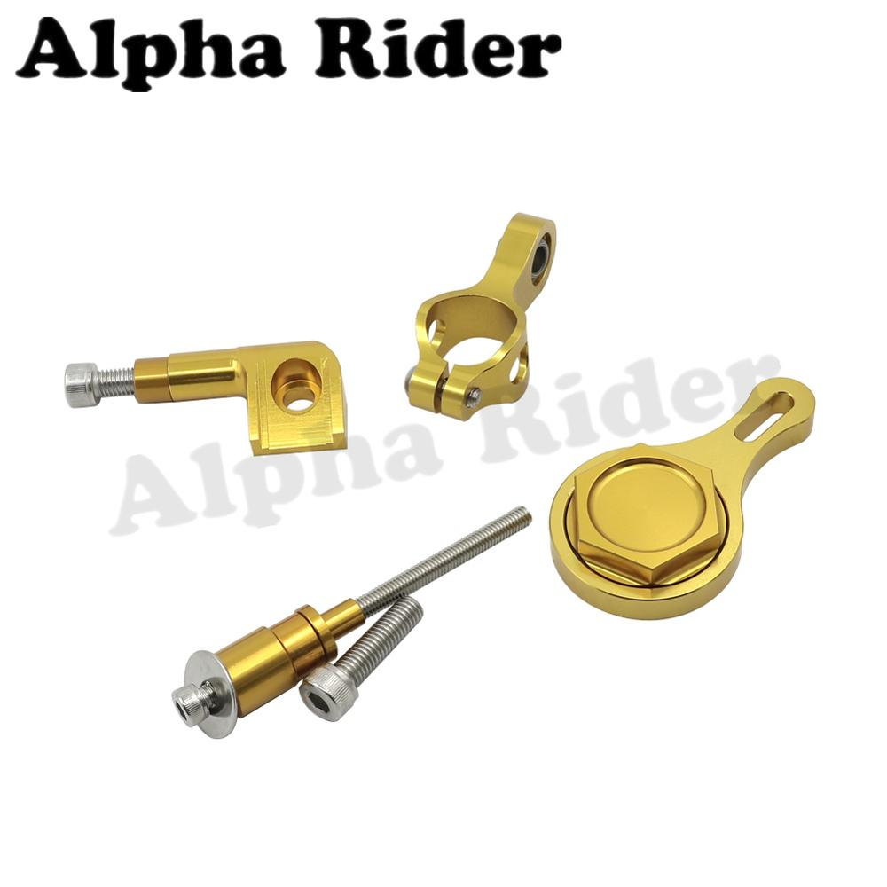 Gold CNC Direction Steering Damper Stabilizer Bracket Mount for Yamaha YZF R6 2006-2015 2014 2013 2012 2011 2010 2009 2008 2007<br><br>Aliexpress