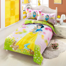 New high quality home children bedding set of Princess, 2 pillow case, 1 bed sheet and 1 duvet cover(China)