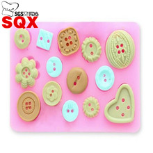 Button shaped Christmas wedding decoration silicone mold fondant sugar cooking tools cake decorating SQ1527