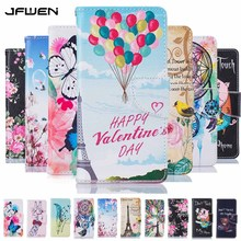 JFWEN Flip Case For Samsung Galaxy J3 2016 Case Wallet Stand Luxury PU Leather Painted Phone Case For Samsung J3 2016 J320 Cover(China)