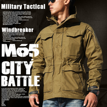 M65 Tactical Military Jackets for Men US Army Field Windbreaker Winter Autumn Casual black brown color Flight Pilot Coat Clothes(China)