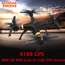 Global Drone X188 GPS Drone One key Return Quadcopter with 5.8G OR 8MP Wifi Camera Remote Control Professional GPS Quadrocopter