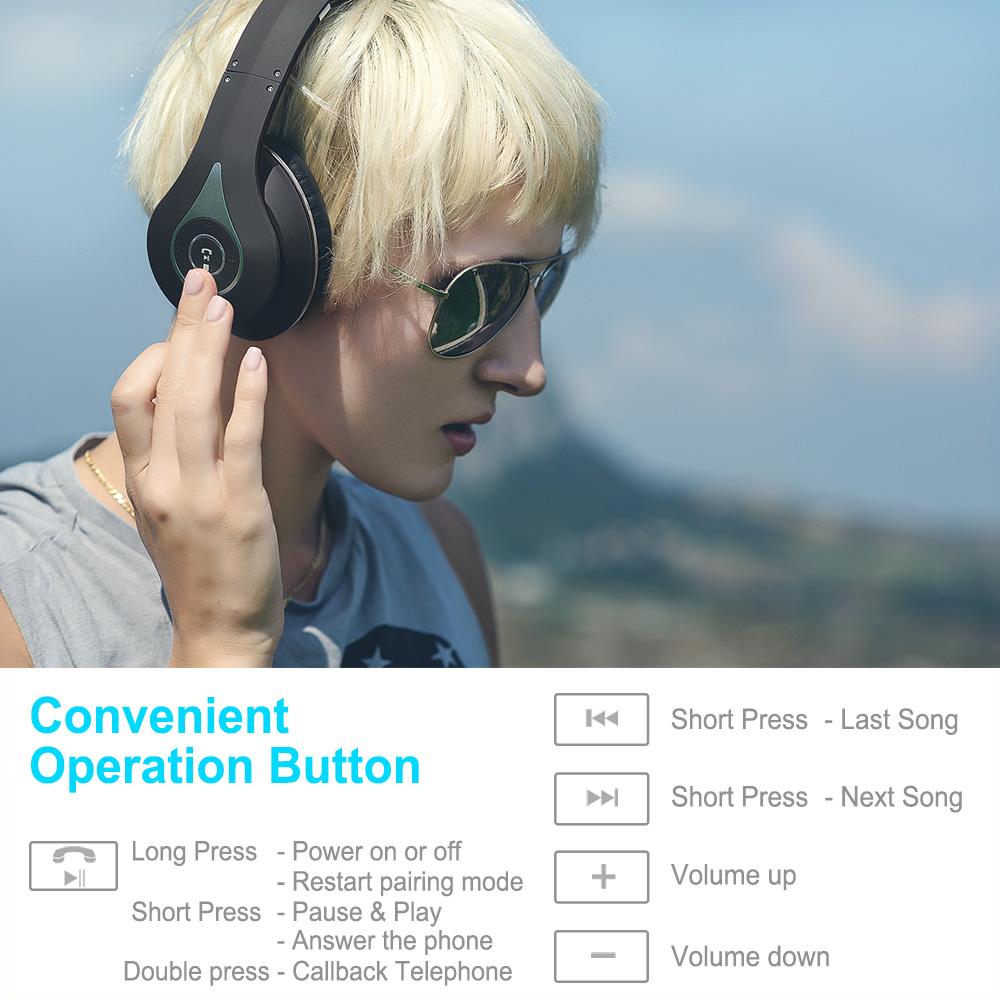 August EP640 Bluetooth Headset,Black