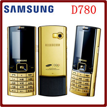 Original Unlocked Samsung D780 2.1 Inches GSM Dual SIM Cards Gold Color Refurbished Mobile Phone Free Shipping(China)