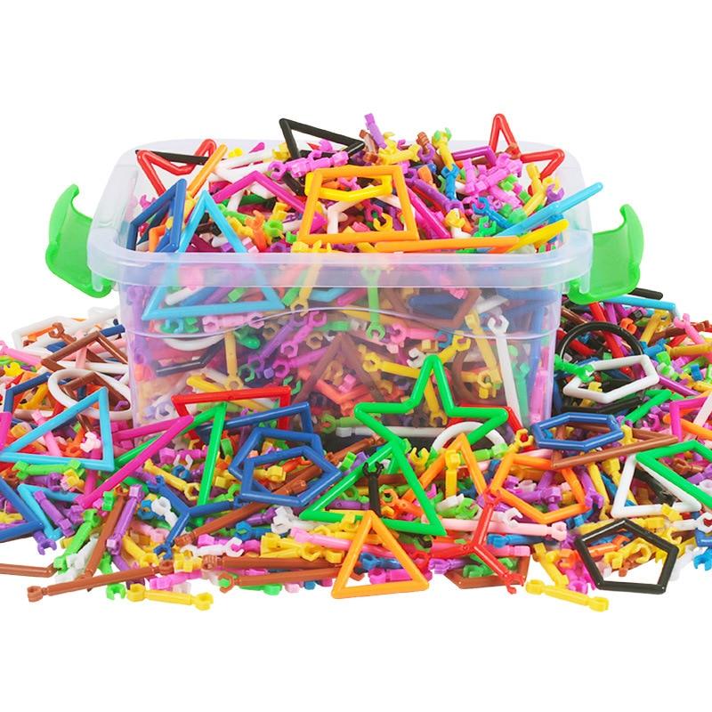 360pcs/set Colorful Building Block Baby Can Design Any Shape Irregular Shape Block Intelligence Toys Kids Game<br><br>Aliexpress