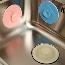 Silicone Sucker Sink Water Leak Cover Plugging Stopper Bathroom Drain Kitchen Sink Strainer