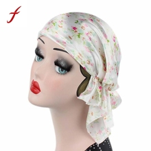 2017 Fashion Women Printing Cancer Chemo Hat Beanie Scarf Turban Head Wrap Cap Casual Print cool daily Party Hat Promotion(China)