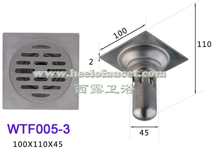 Bathroom 4 201 stainless steel deepwater-sealing water trap dual-function anti-odor common floor drain<br>