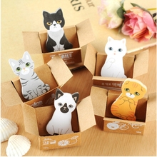 Cute Puppy Kitty House Memo Pads Post It Stickers Sticky Notes Writing Paper Notepad Kids Toy Sticker(China)