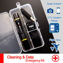 5 in 1 LENSPEN Dust Cleaner Camera Cleaning Lens Pen Brush Lint-free Wipes OTG TF Data Kit For Canon Nikon Sony Spirit Hot Shoe