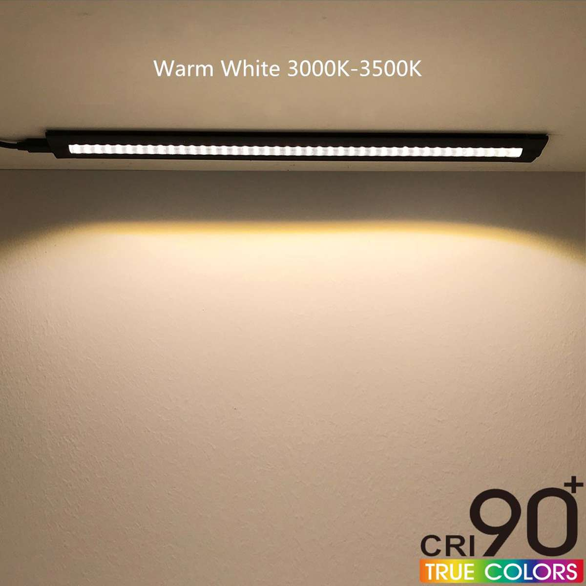30CM LED Under Cabinet Strip Light Bar Lamp CRI90 Warm Dimmable Waterproof Table Lamp desk light For Reading Study Office Light 9
