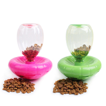 Rose Red/Green Automatic Pet Feeder Pet Dog Cat Tumbler Auto Feeder Dispenser Dog Bowl Pet Toys(China)