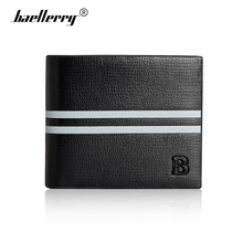 Baellerry Genuine Leather Small Wallet Men Fashion Hit-color Mens Wallets Brand Short Male Purse Card Holder Slim Money Walet