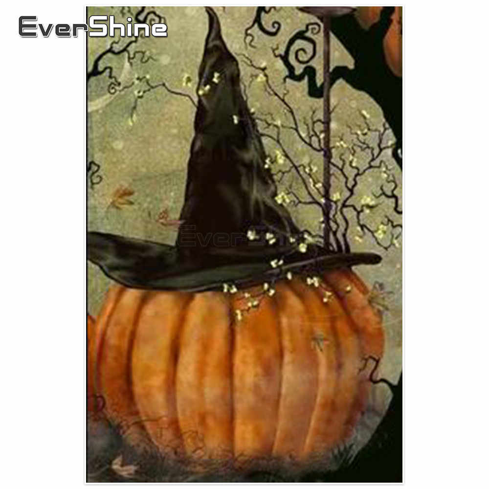 Evershine 5D Diamond Painting New Arrivals Pumpkin Pictures Of Rhinestones Diamond Embroidery Full Drill Square Halloween Decor