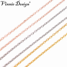 Vinnie Design 80cm Copper Link Chain for Coin Holder Pendant Silver Gold Rolo Chains Necklace Women Fashion Jewelry 10pcs/lot(China)