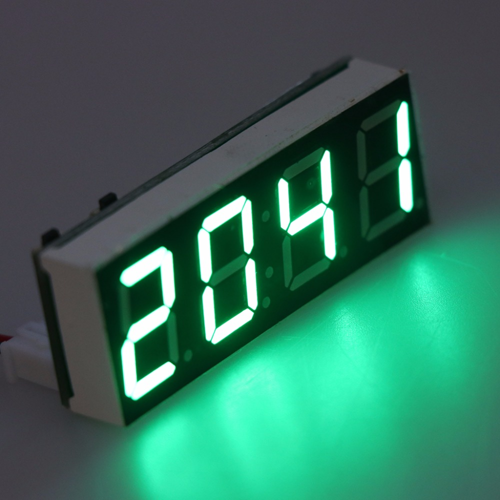 12v 5 24v Electronic Voltmeter Thermometer Clock For Car Auto Led Voltmeters 1pc Module 1aa800110 0 1