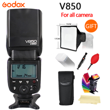Buy Godox V850 GN58 Camera Speedlite Flash Light w/ Rechargeable Lithium-ion Battery Nikon Canon Olympus Pentax Various+gifts for $149.00 in AliExpress store