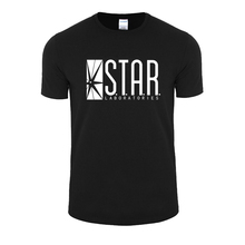 Hot Sale Fashion STAR Laboratories T Shir The Flash S.T.A.R. LABS men's short sleeve T-shirt cotton loose big yards