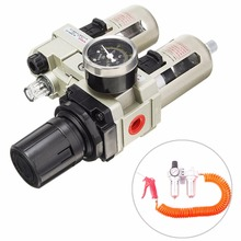 1 Set Mayitr Air Compressor Oil Lubricator Water Separator Trap Filter Regulator Gauge High Quality