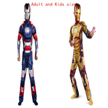 Genuine Kids and Adult Avengers Iron Man Mark Patriot Muscle Halloween Costume Marvel Movie Superhero Cosplay Clothing