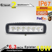 FreeShipping!2PCS 6 inch 18W LED Work Light Lamp Fit led ramp car accessories Off Road 4WD 4x4 Truck SUV ATV 10V 30V fog light