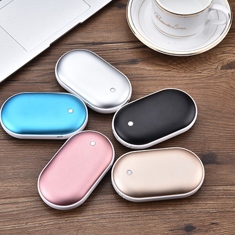 5200mAh USB Rechargeable Electric Hand Warmer Winter Pebbles Double-Side Heating Mini 5V Long-Life Pocket Power Bank 2 in 1(China)