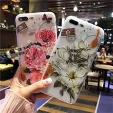 Fashion Flower Pattern Soft TPU Protection Case For iPhone 5 5S 5SE Slim Bumper On Cover Case For iPhone Case On 5S Silicon Back(China)