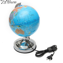 KiWarm Electronic Illuminated Floating Geography Globe World Map For Birthday Business Gift Home Office Desk Decor Ornaments
