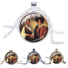 Gypsy necklace Caravaggio The Fortune Teller necklace Italian painter Fortune teller pendant Inspirational jewelry(China)