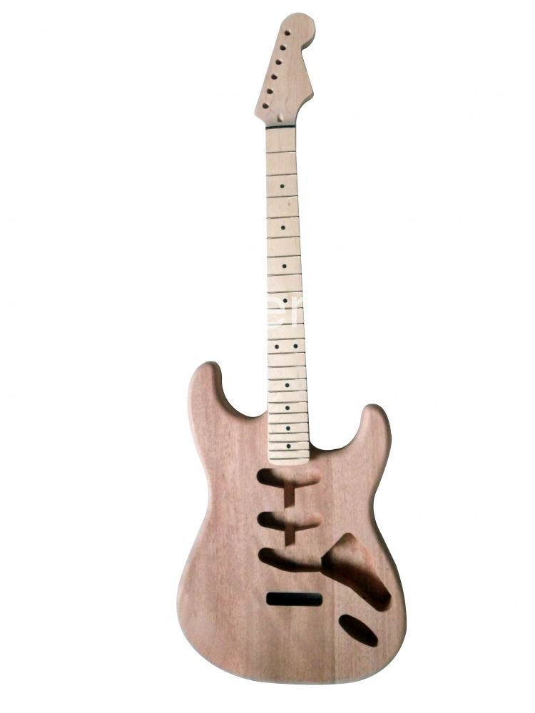 New High Quality Unfinished electric guitar body +neck maple wood fingerboard Mahogany body ST model<br><br>Aliexpress
