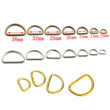 10pcs 100pcs Metal Non-Welded D Ring Adjustable Buckle For Backpacks Straps shoes Bags Cat Dog Collar Dee Buckles DIY Accessorie(China)