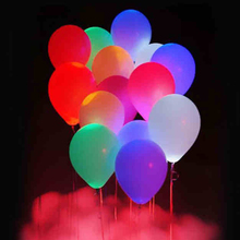 10pcs LED Balloon Light ball 12 Inch Latex Multicolor Helium Balloons Christmas Hollween Decor Wedding Party Baloons led Ball