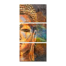 3Pcs/Set Oil Painting Buddha Figure Half Face Painting Wall Home Posters And Prints None Frame Art Portrait Picture